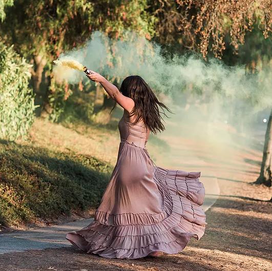 Bohemian Style Ruffle Dress
