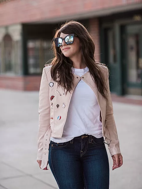 Dezzal Embellished Leather Jacket