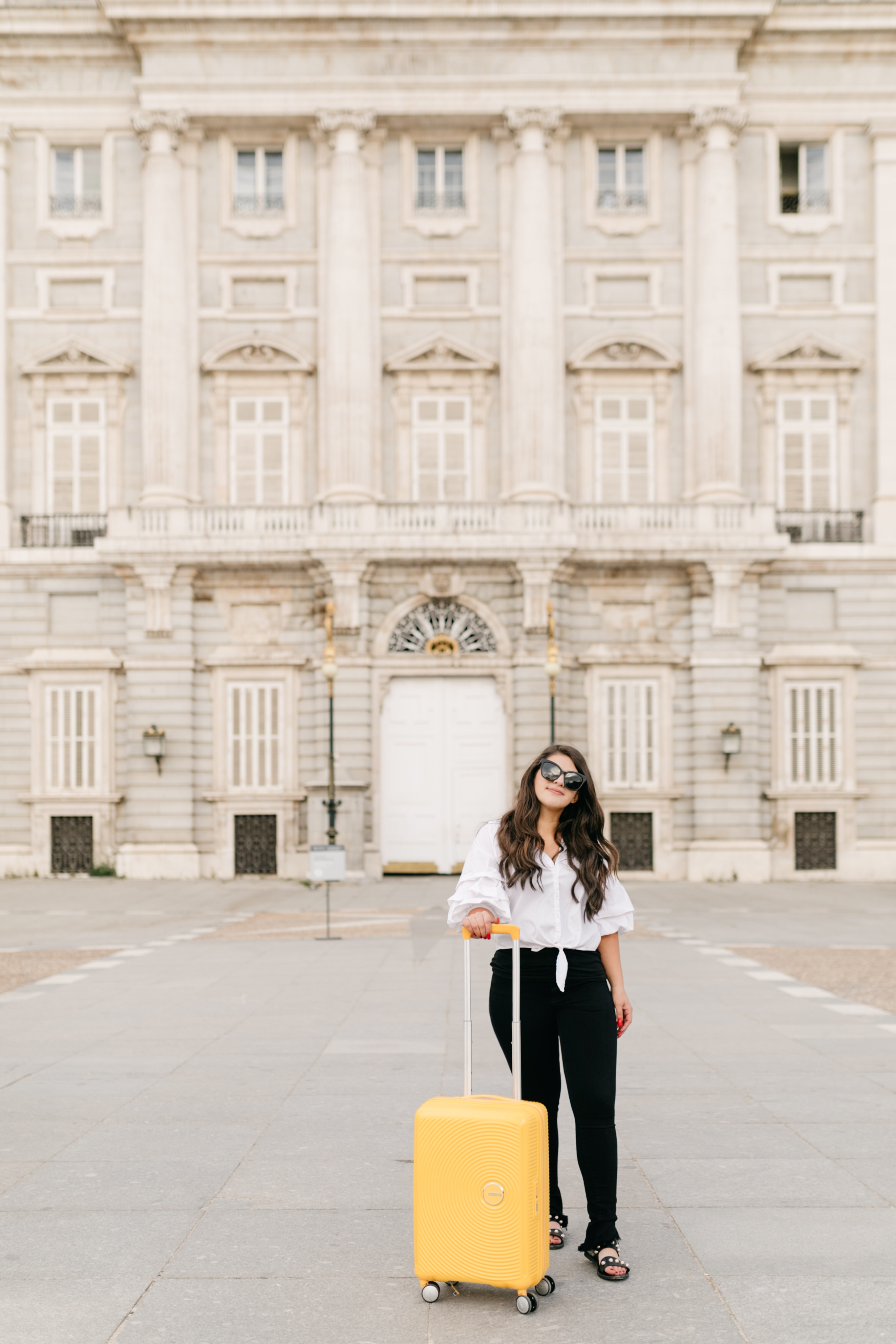Royal Palace of Madrid - Beyond Casual B - American Tourister yellow curio