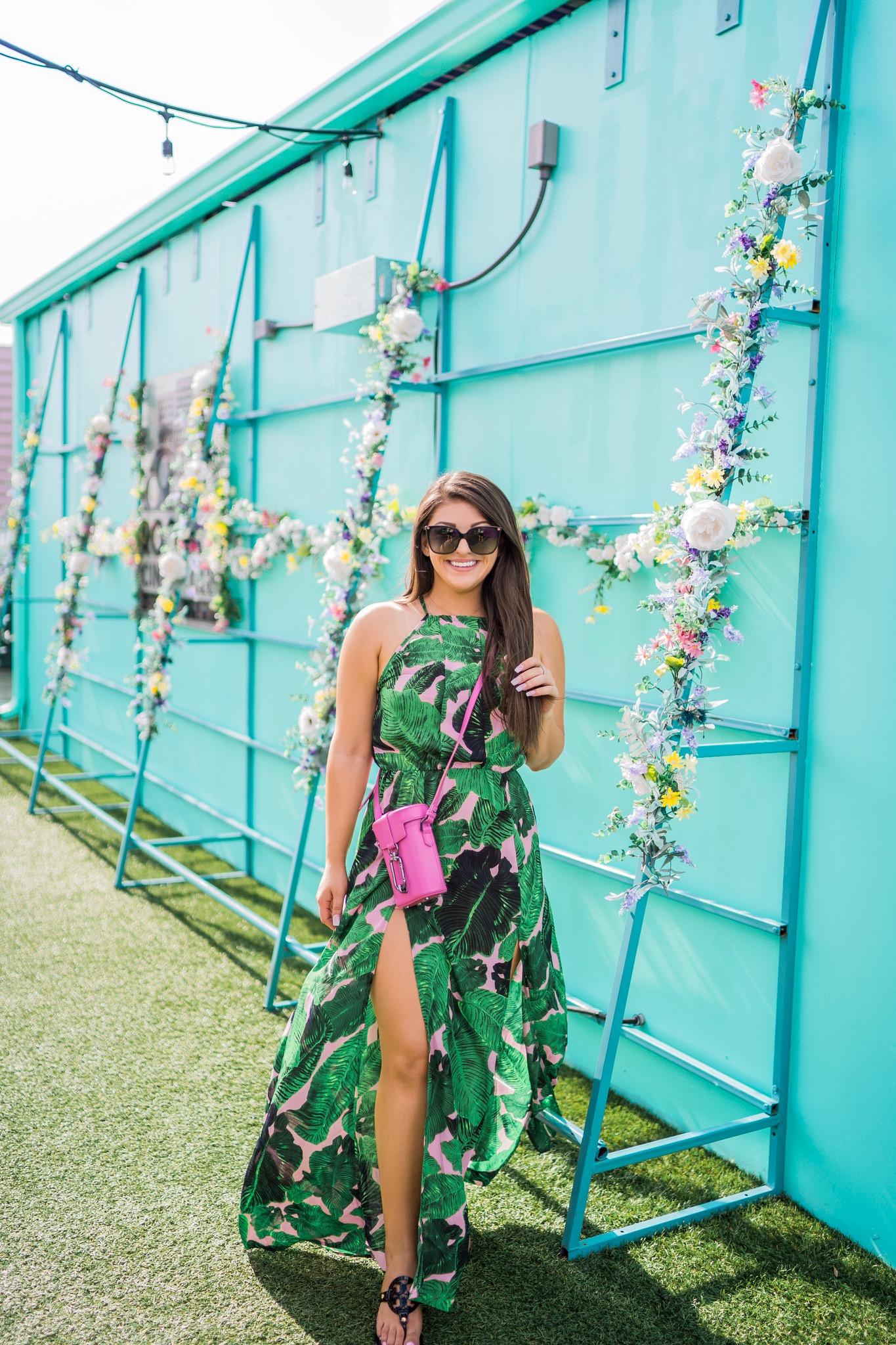 Palm Print Dress By Boohoo- Beyond Casual B