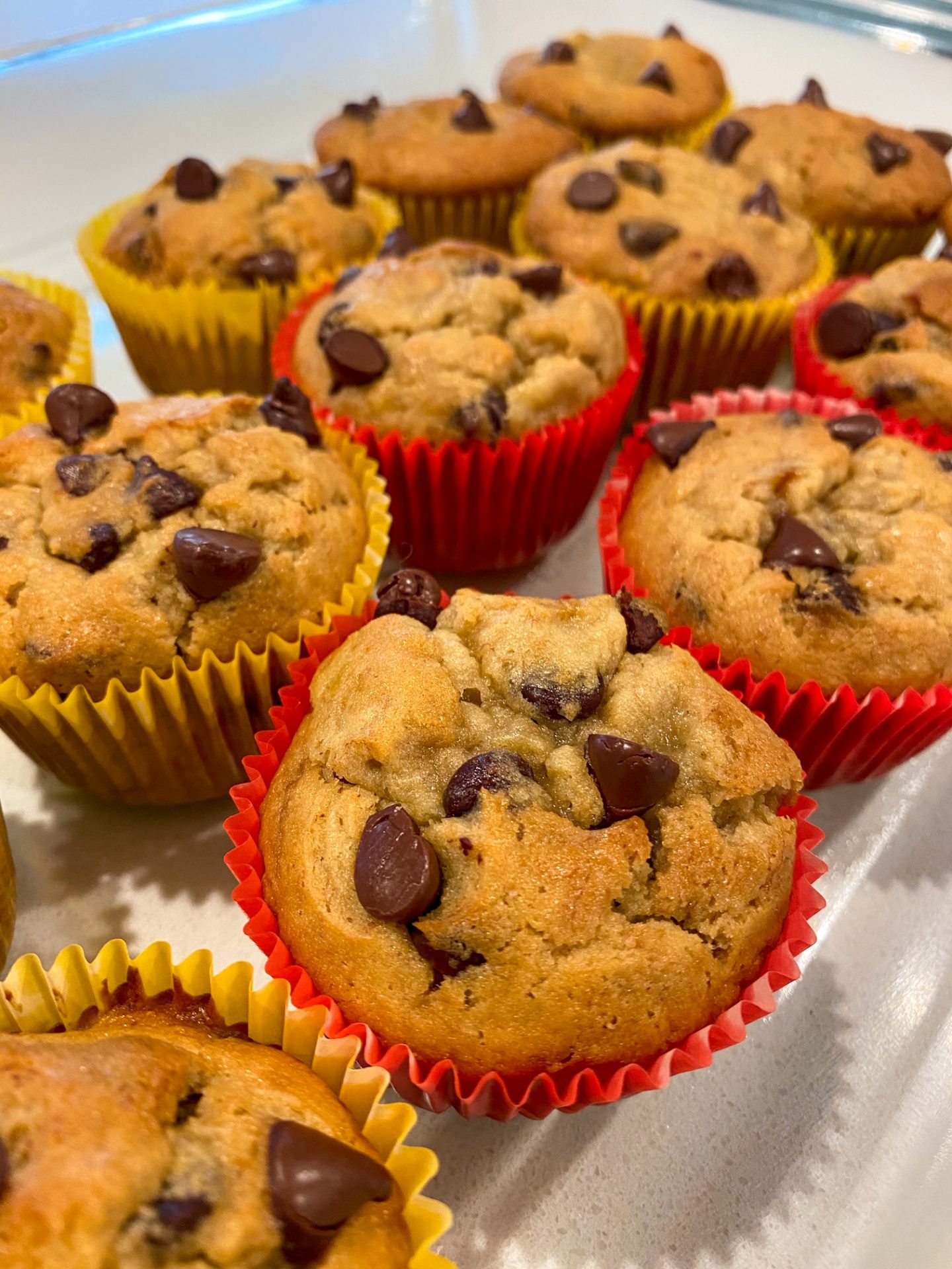 The BEST Chocolate Chip Banana Muffins You'll Ever Have!