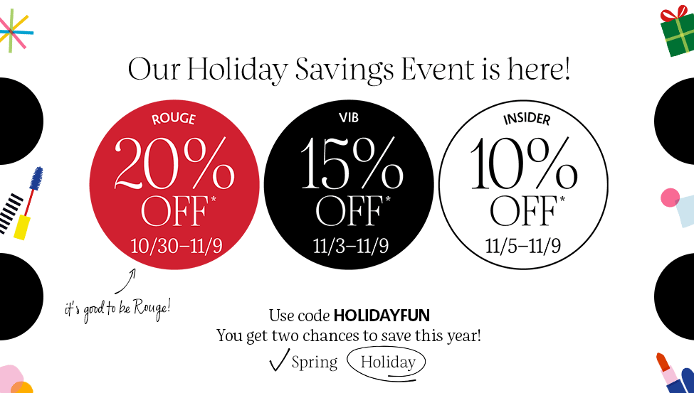 Don't Miss Out On The Sephora Holiday Savings Event!